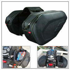 Extendable Motorcycle Rear Pannier Bag Luggage Saddle Bag 36-58L with Rain Cover