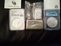 silver lot 5 oz bar 10 oz bar rare engelhard coins silver eagle