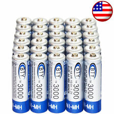 30x AA battery batteries Bulk Nickel Hydride Rechargeable NI-MH 3000mAh 1.2V BTY