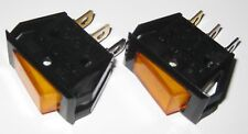 2 X Dreefs Illuminated Rocker Switch - SPST - 125V 25A - Lighted Amber - Snap-in