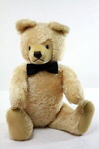 Vintage Steiff Teddy Bear Beige Mohair  Movable head  & Legs 20  inches 0201/5