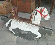 Antikes Altes Schaukelpferd Holz Pferd Kinderspielzeug Holzpferd Schaukeltier