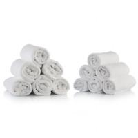 """Müster Handtucher  100% Baumwolle 50x90 """"Luxury"""" Qualität Hellgrau Made in Italy"""