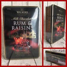 Walkers Chocolate Of London 300 G Tin Milk Chocolate Rum & Raisins