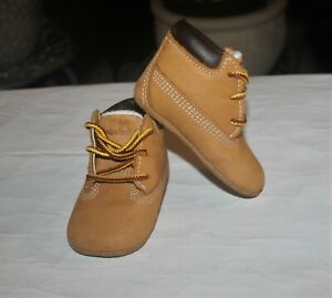 TIMBERLAND INFANT WHEAT TAN CRIB BOOTIES SHOES(SIZE : 1)