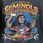 Vintage Harley Davidson Native American Seminole T Shirt Large Biker Florida