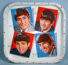 1964 Beatles Beverage Serving Tray Worchester Ware Label John Paul George Ringo