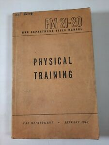 FM 21-20 Physical Training Guide US Army January 1946 Book vintage