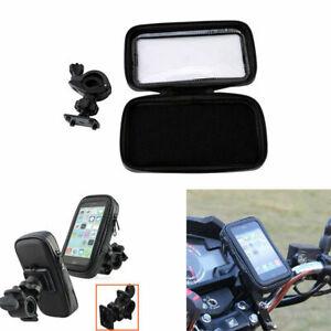 Support Sac Etanche Etui Moto Vélo Porte-Guidon Pour Téléphone  Portable XL Noir