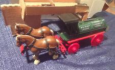 Amoco 1990 Oil Horses & Tank Wagon Bank Die Cast Metal Ertl #9563 NEW IN BOX