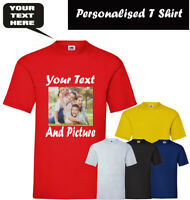 Personalised T Shirt Custom Design Any Text & Image Gift Inspired Mens T Shirt