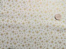 Christmas Gold stars on Cream fabric fq 50x56 cm  100% Cotton Makower MK1504Q