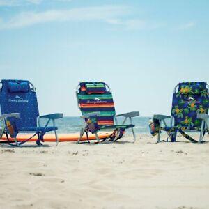 Tommy Bahama Backpack Beach Folding Chair Blue, Green, Flower, Pineapple - 2020