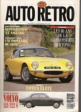 AUTO RETRO 146 BERTONE LOTUS ELITE 57 63 PEUGEOT 201 VOLVO 120 AMAZON 121 122