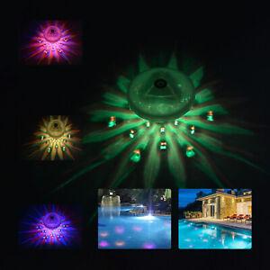 Underwater Lazy Spa Hot Tub Swimming Pool Floating Sensory Colorful LED Lights