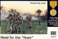 Masterbox Modern Infantry Head for the Hueys Vietnam Figurines 1:35 model kit