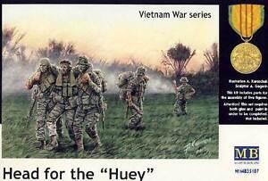 Masterbox Modern Infantry Head For The Hueys Vietnam Figurines 1:3 5 Model Kit