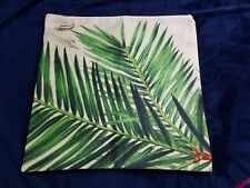 green leaves Palm tree pillow cover 17 by 17 inch