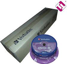 200 DISCOS VERBATIM DVD + R 4,7 GB 16 X TARRINA 25 UDS SPINDLE BOBINA (PENISULA)