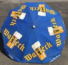 Vintage 6' Warteck Beer Bar Golf Pub Table Umbrella Cloth Rare Collector Item