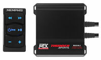 MTX MUD100.4 400w 4-Channel Amp+Memphis Audio Bluetooth Rocker Switch Controller