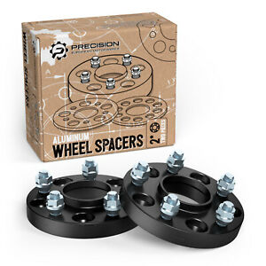 """25mm (1"""") Hubcentric Black Wheel Spacers 