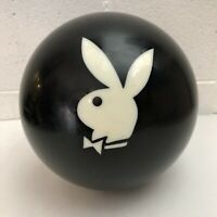 Vintage Ebonite Drilled Bowling Ball w/ Playboy Bunny Logo Black 12lb