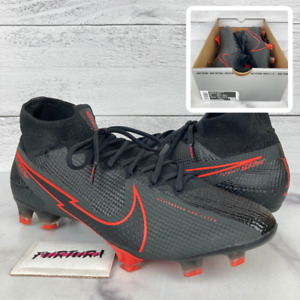 Nike Superfly 7 Elite FG Men's Size 9 Soccer Cleats Black Red AQ4174-060 No Lid