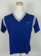 Vtg 80's Argo Runner Up V Neck T Shirt Blank USA L Blue Thin Hipster Surf