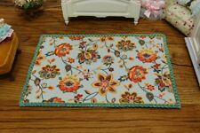 1//12 Scale French Country Nice Peony Bunches Dollhouse Rug