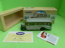 CORGI TOYS 98163 BEDFORD OB GREY GREEN BUS - EXCELLENT CONDITION IN BOX -
