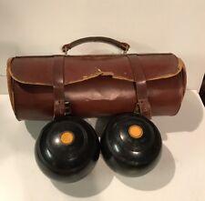 Vintage Bowling Case & Two Thomas Taylor Glasgow Bowls