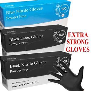 NewTOUCH Heavy Duty Powder Free Black& Blue Nitrile Latex Gloves TATTOO MECHANIC