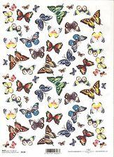 CIALDE di riso per decoupage scrapbooking Piccole Colorate Farfalle A4 ITD R130