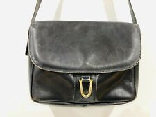 OROTON Vintage Black Leather Shoulder Crossbody Adjustable *Made In Italy* RARE!