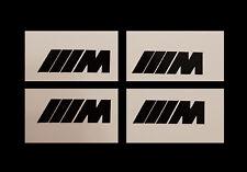 4x M Bremssattel Aufkleber BMW M Power Bremse 1er 2er 3er 5er 6er 7er X5 schwarz