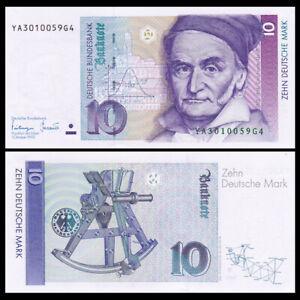 Germany Federal Republic 10 Mark, 1993, P-38c,Gauss, Banknotes, UNC