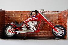 CUSTOM CRUISER  1/12th  MODEL MOTORCYCLE  RED