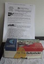 Vintage Greist Buttonholer,Sewing Machine Atttachment, Original Box