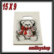 lot 50 pochettes sac sachet plastique fantaisie 15x9 ours ourson cadeaux,bijoux