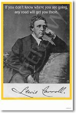 NEW Classroom MOTIVATIONAL POSTER - Lewis Carroll - If You Don't Know Where ...