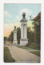 USA, Portland Maine, Gateway to Deering Oaks Postcard, A815
