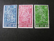HONG KONG, SCOTT # 408-410(3), COMPLETE SET 1983 PERFORMING ARTS ISSUE USED
