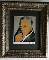 ANDY WARHOL CIRCA 1984 SIGNED GIORGIO ARMANI PRINT MATTED 11X14