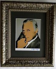 ANDY WARHOL ORIGINAL 1984 SIGNED GIORGIO ARMANI PRINT MATTED 11X14