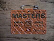 1971 MASTERS GOLF AUGUSTA NATIONAL BADGE TICKET CHARLES COODY 1ST WIN LOW # RARE