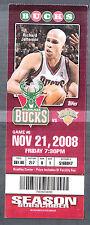 Milwaukee Bucks vs NY Knicks November 21 2008 Ticket Stub Richard Jefferson pic