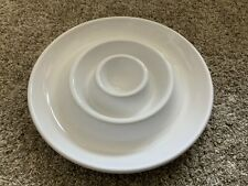 Pottery Barn Double Chip And Dip Platter  16in Round