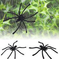 20Pcs Plastic Spider Joking Toys Halloween Party Prank Decoration Prop Black New