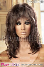 Punk Rocker Tina Turner Wig Brown Blonde Mix